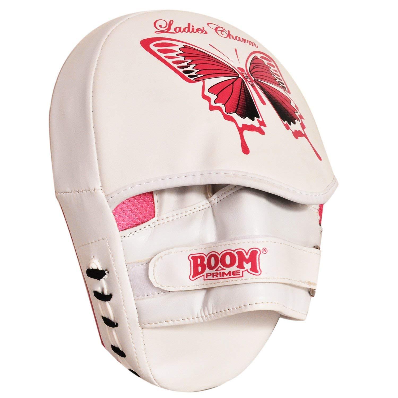 BOOM Prime Ladies Boxing Pads Gel Focus Mitts Rex Leather MMA Muay Thai Hook /& Jab Curved Kickboxing Training Strike Target Hand Pads Martial Arts Punching Kick Shield