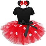 IEFIEL Vestido Tutú Traje de Danza Ballet con Braga Interior Diadema Disfraz de Princesa para Bebés Niñas Fiesta Bautizo (12 Meses a 8 Años)