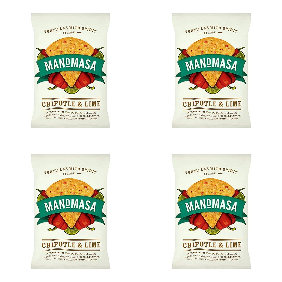 Amazon.com: (4 PACK) - Manomasa Tortilla Chips - Chipotle & Lime| 160 x 10 gx |4 PACK - SUPER SAVER - SAVE MONEY: Health & Personal Care