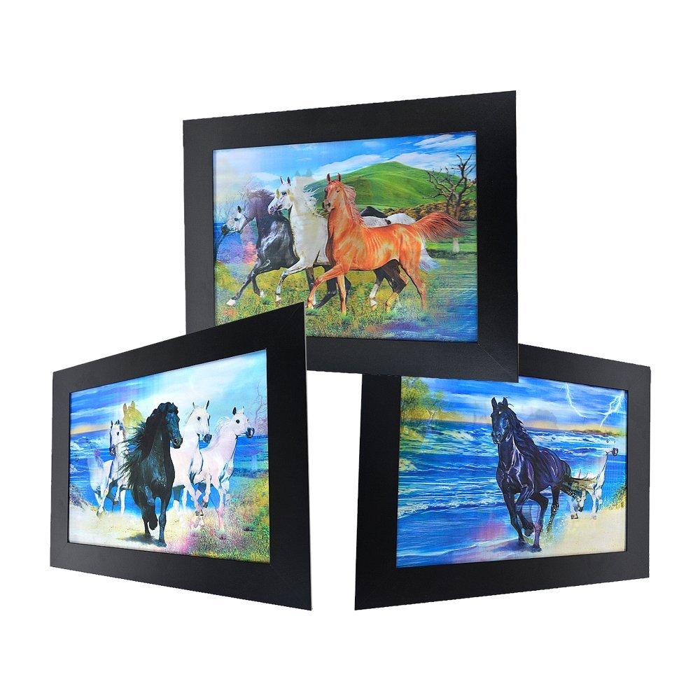 3D Lenticular Framed Animal Picture - Thunder Horse