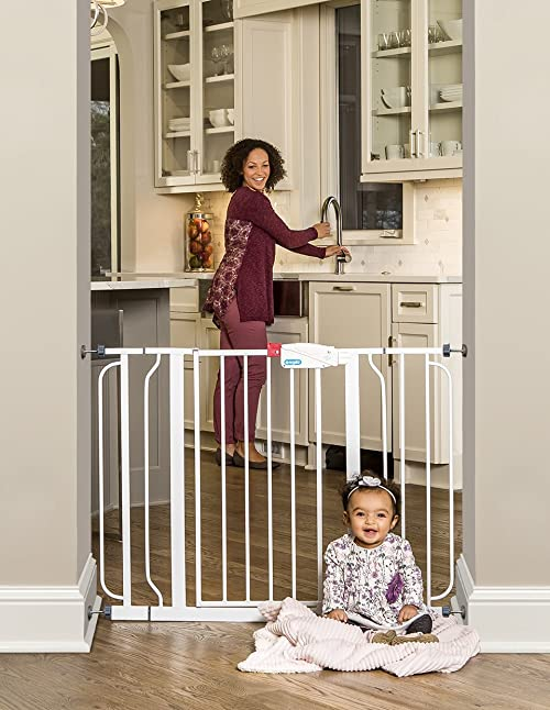 Regalo Easy Step Walk Thru Gate, White, Fits Spaces between 29