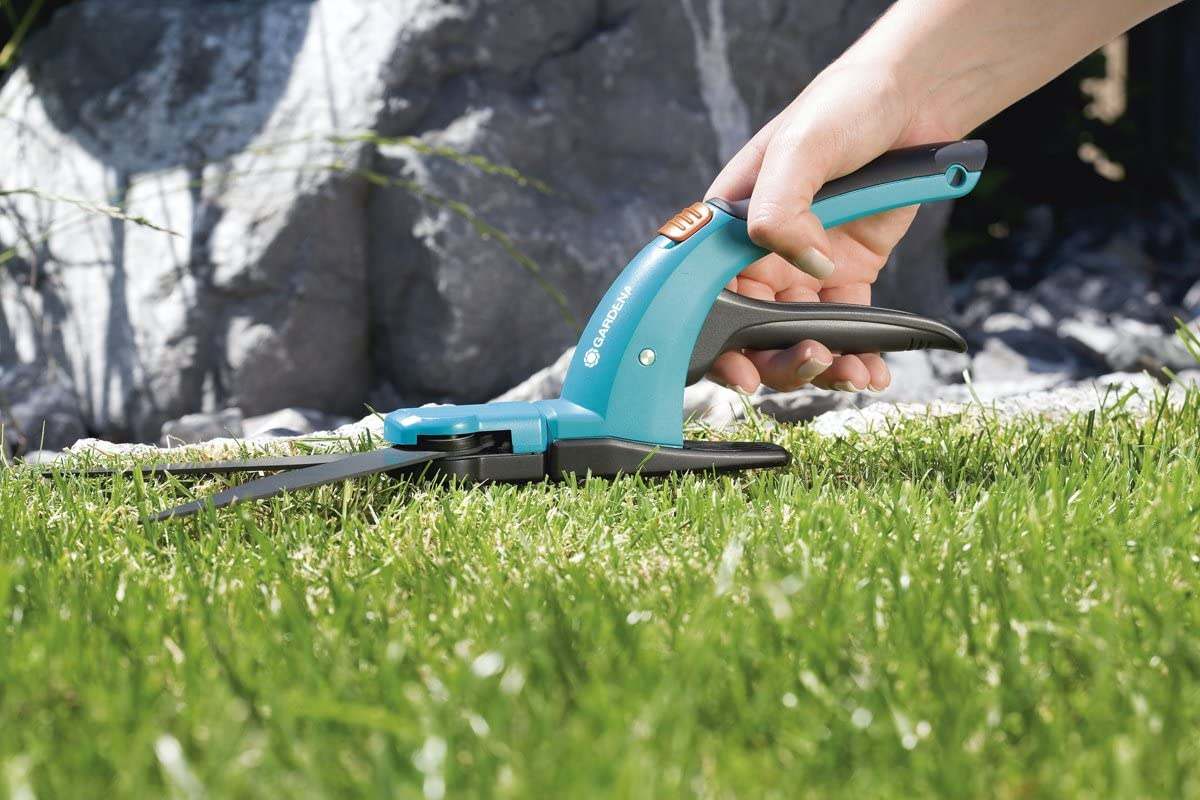GARDENA Classic Grass Shears blades can be rotated 360 degree celcius 8731-30 ergonomic grip suitable for left and right-handers rotatable: Mechanical straight-ground lawn-edging shears