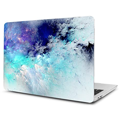 TwoL Carcasa MacBook Pro 13 Retina, Ultra Slim Funda Dura Carcasa para MacBook Pro 13-13,3 Pulgadas A1502/A1425 Cielo Azul