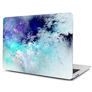 TwoL Carcasa MacBook Pro 15 2018 2017 2016, Ultra Slim Funda Dura Carcasa para MacBook Pro 15 Touch Bar A1707/A1990 Cielo Azul