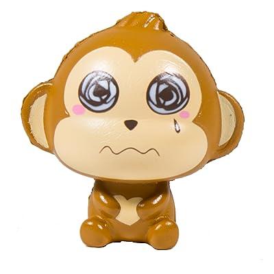 Puni Maru Baby Cheeki Scented Squishy Swirly Eyes Face: Toys & Games