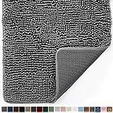 Gorilla Grip Original Indoor Durable Chenille Doormat, Large, 36x24, Absorbent, Machine Washable Inside Mats, Low-Profile Rug Doormats for Entry, Back Door, Mud Room, High Traffic Areas, Gray