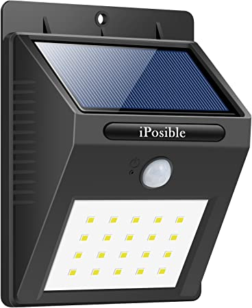 iPosible Luz Solar Exterior, 20 LED Luces Solares Impermeable ...