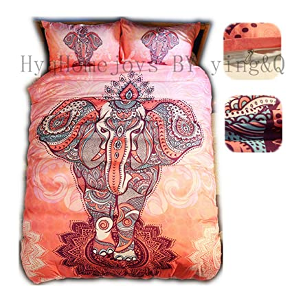 Queen Size Elephant Bedding.Amazon Com Home4joys Animal Elephant Bedding Sets Pink