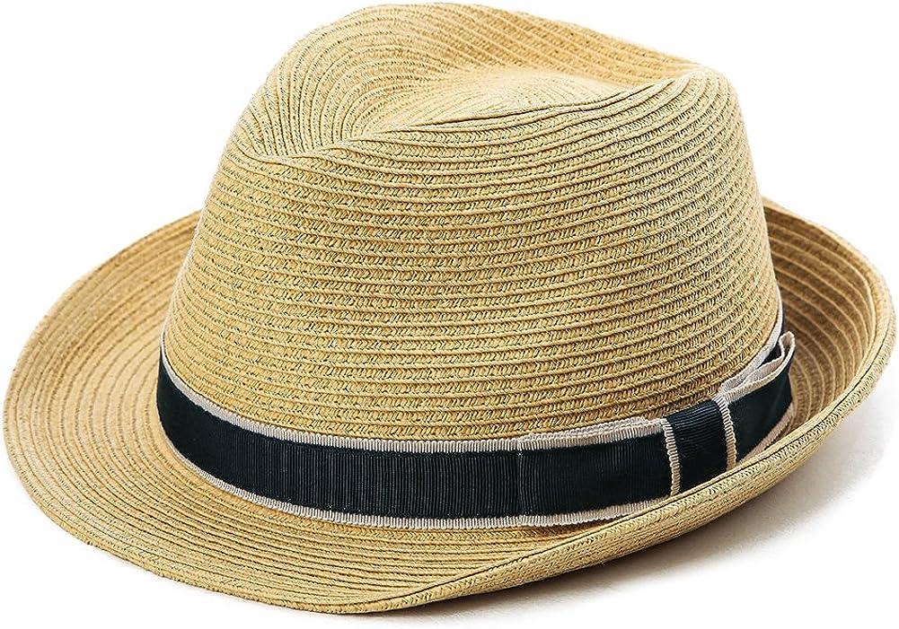 Fancet Packable Straw Fedora Panama Sun Summer Beach Hat Cuban Trilby Men Women 55 61cm At Amazon Men S Clothing Store