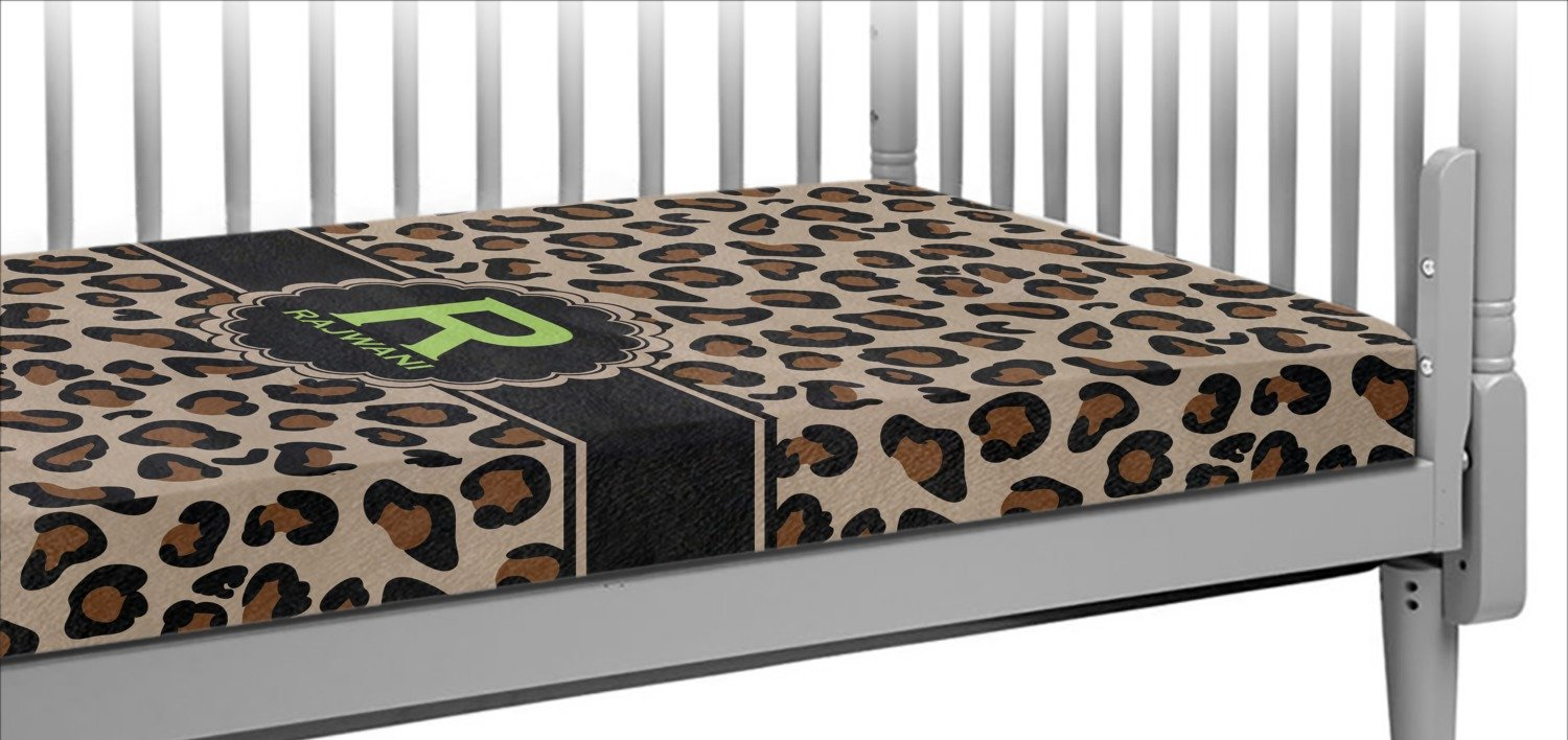 Granite Leopard Crib Fitted Sheet (Personalized)