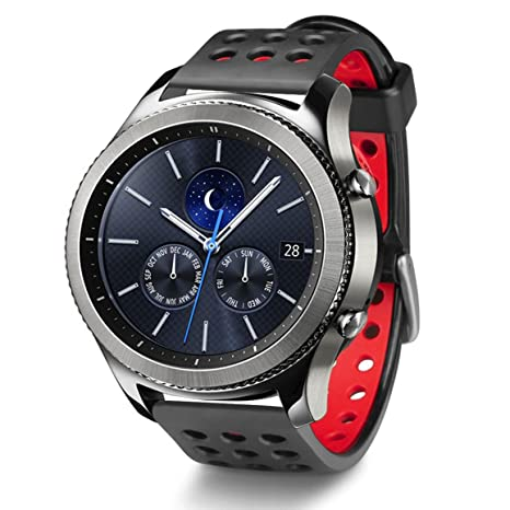 a0ee04da4 Greatfine 22MM Watch Strap for Samsung Gear S3 Frontier: Amazon.co.uk:  Electronics