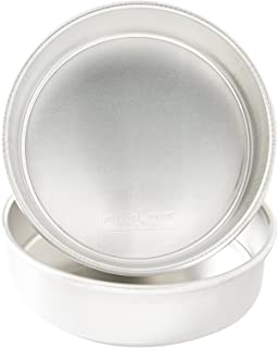 """product image for Nordic Ware 9"""" Round Natural Aluminum Cake Pans, 2 Pack, 9"""", Non-Stick"""