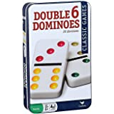 Cardinal Double Six Color Dot Dominoes In Color Collectors Tin, 28 Dominoes