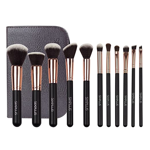 Sixplus 11-Piece Makeup Brush Set, Royal Golden