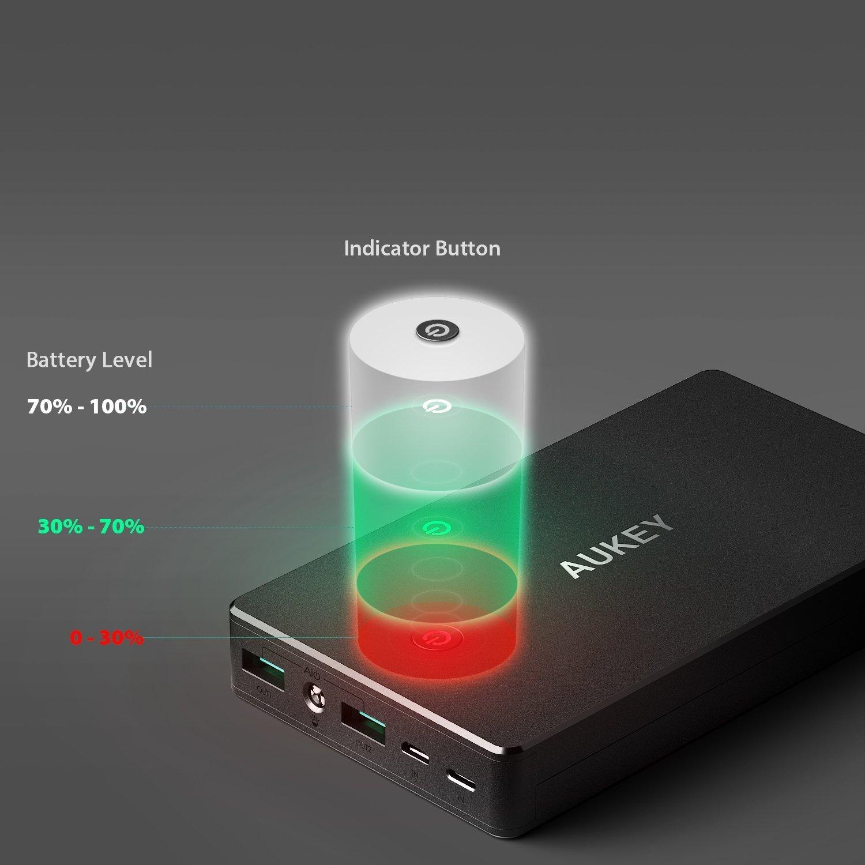 Oferta Batería Externa AUKEY 20.000 mA por 18,99 euros (Cupón Descuento) 2 batería externa AUKEY