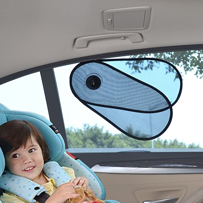 WANPOOL Sun Shade Shield Sunlight Blocker for Car Side and Rear Windows 3 Pieces Protect Your Children From Sun and UV Rays