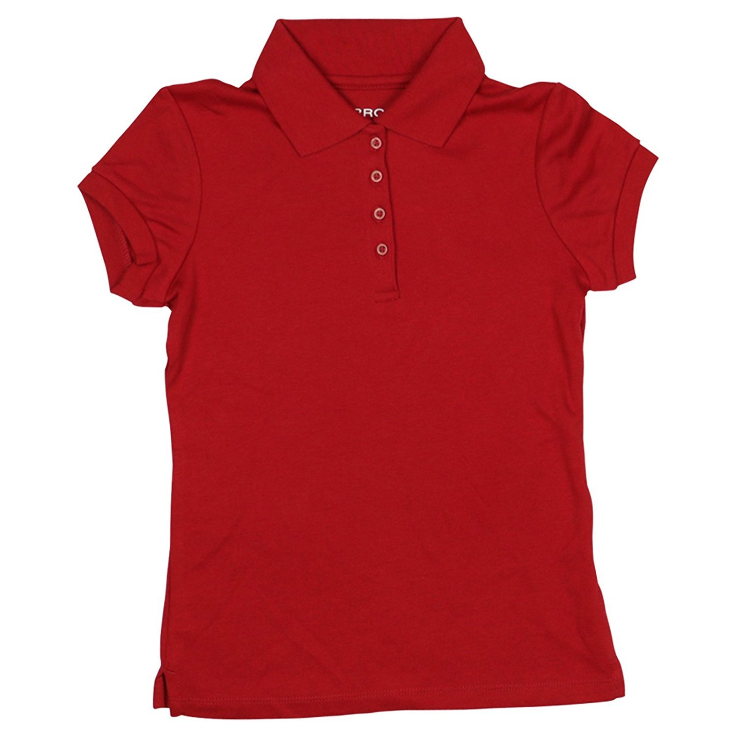 Arrow Girls Size Large 12/14 Approved Schoolwear Short Sleeve Polo Shirt, Red