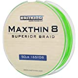 KastKing Maxthin8 Braid Fishing Line - 30% Thinner than Competitor Brands- 165Yds/150M Super Strong 8 Strands Premium Braided Line -ICAST Award Winning Brand