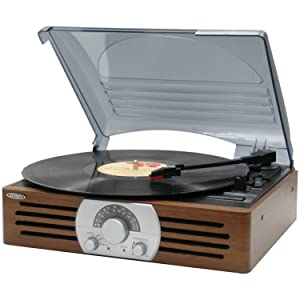 Jensen JTA-222 3-Speed Turntables