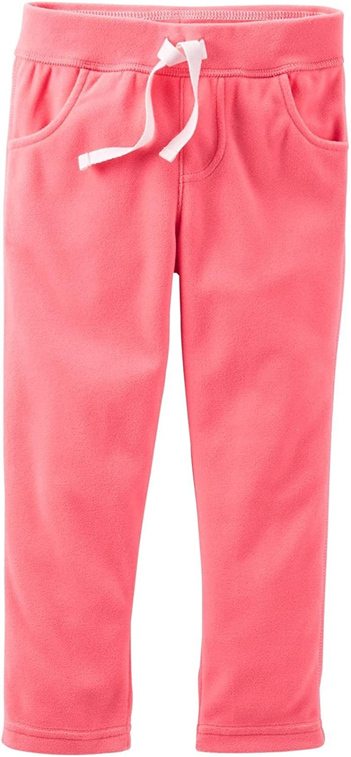Coral-3 Months Baby Carters Microfleece Pants
