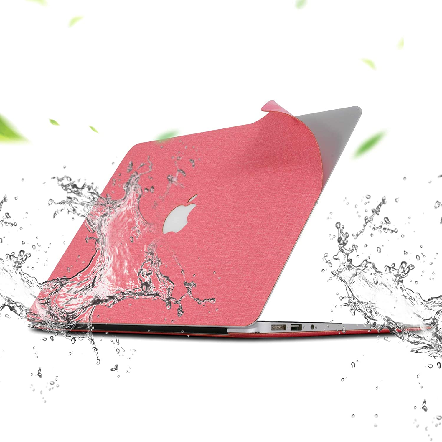Magstone Pink Cloth Composite Material Laptop Protect Cover Skin Stickers MacBook Pro Decal Logo Sticks MacBook air 13 inch Case for MacBook Air Laptop A2179 A1932 A1706,A1989, A2159, A2551, A2289