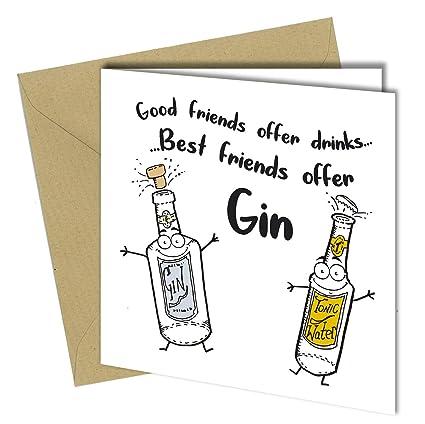 1144 Tarjeta de cumpleaños para mejor amiga de la ginebra ...