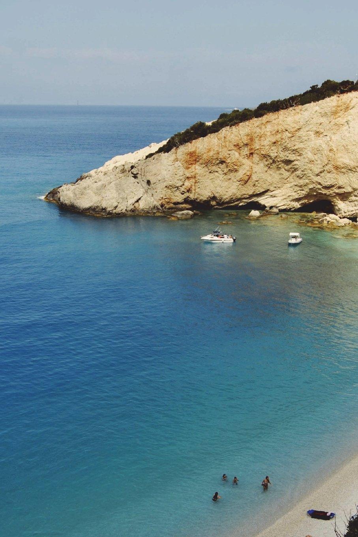 Beach at Porto Katsiki Ionian Island of Lafkas Greece Journal: 150 page lined notebook/diary PDF