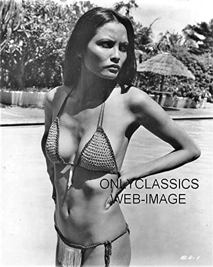 644e74f6bfa6d Amazon.com  OnlyClassics Sexy Laura GEMSER Bikini Swimsuit Black EMANUELLE  8X10 Movie Photo Busty Pinup  Home   Kitchen