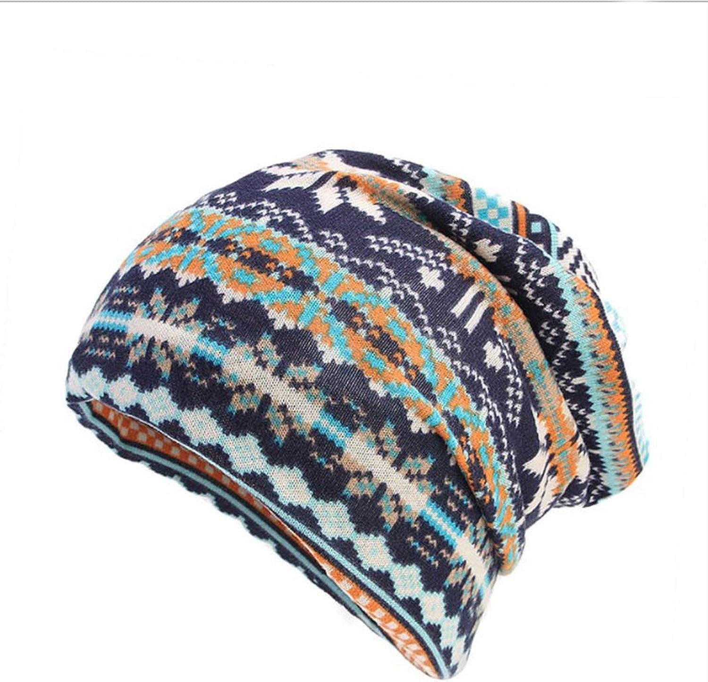 Autumn Winter Fashion Imitation Cashmere Women Warm Turban Baggy Beanie Hat Head Wrap Stretchable Men Pile Cap