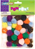 Creativity Street Bright Hues Pom Pons, 1-Inch, 50-Pack (AC8113-01)