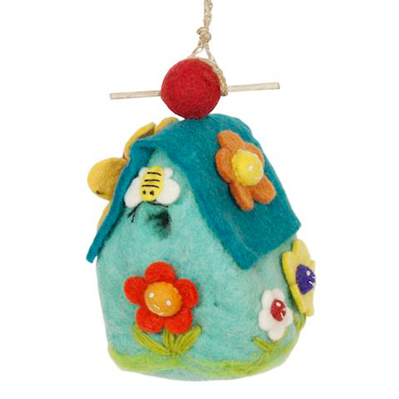 DZI Handmade Designs DZI484053 Flower House Felt Birdhouse