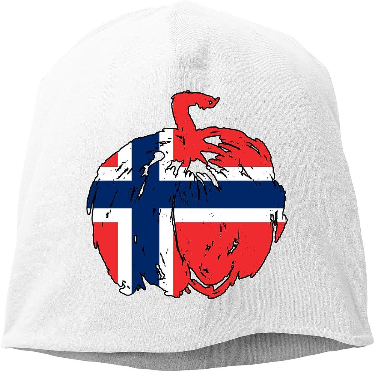 Norway Pumpkin Halloween Flag Men /& Women Winter Skull Cap Snowboarding Beanie Hat