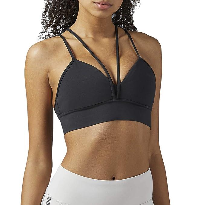 8dbbd297729 Amazon.com  Reebok Women s Strappy Bra Black X-Small  Sports   Outdoors