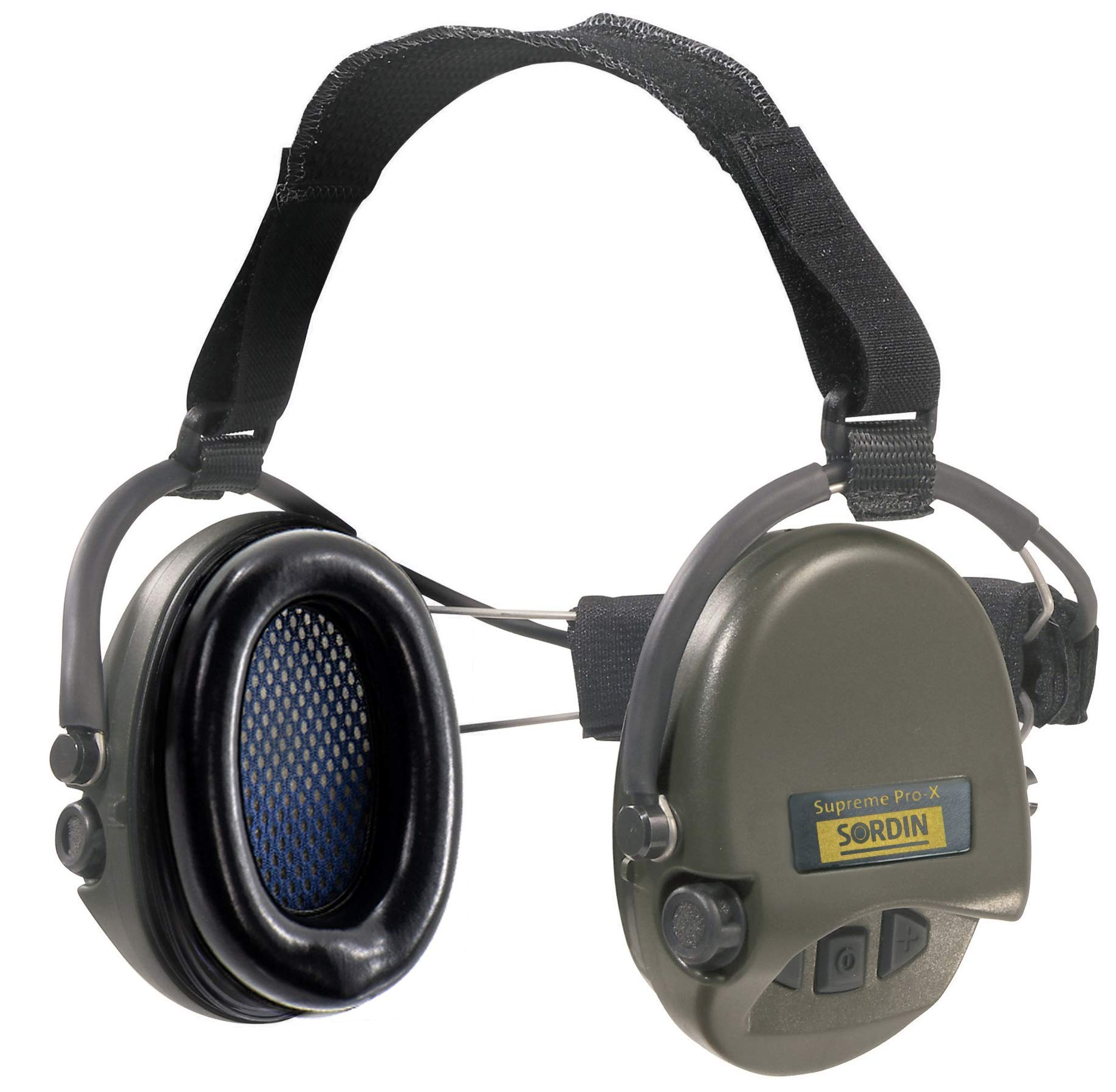 Sordin Supreme PRO X Neckband Safety Ear Muffs - Perfect for Helmets - Foam Ear Seals with SNR: 25dB - Green - 76302-X by Sordin