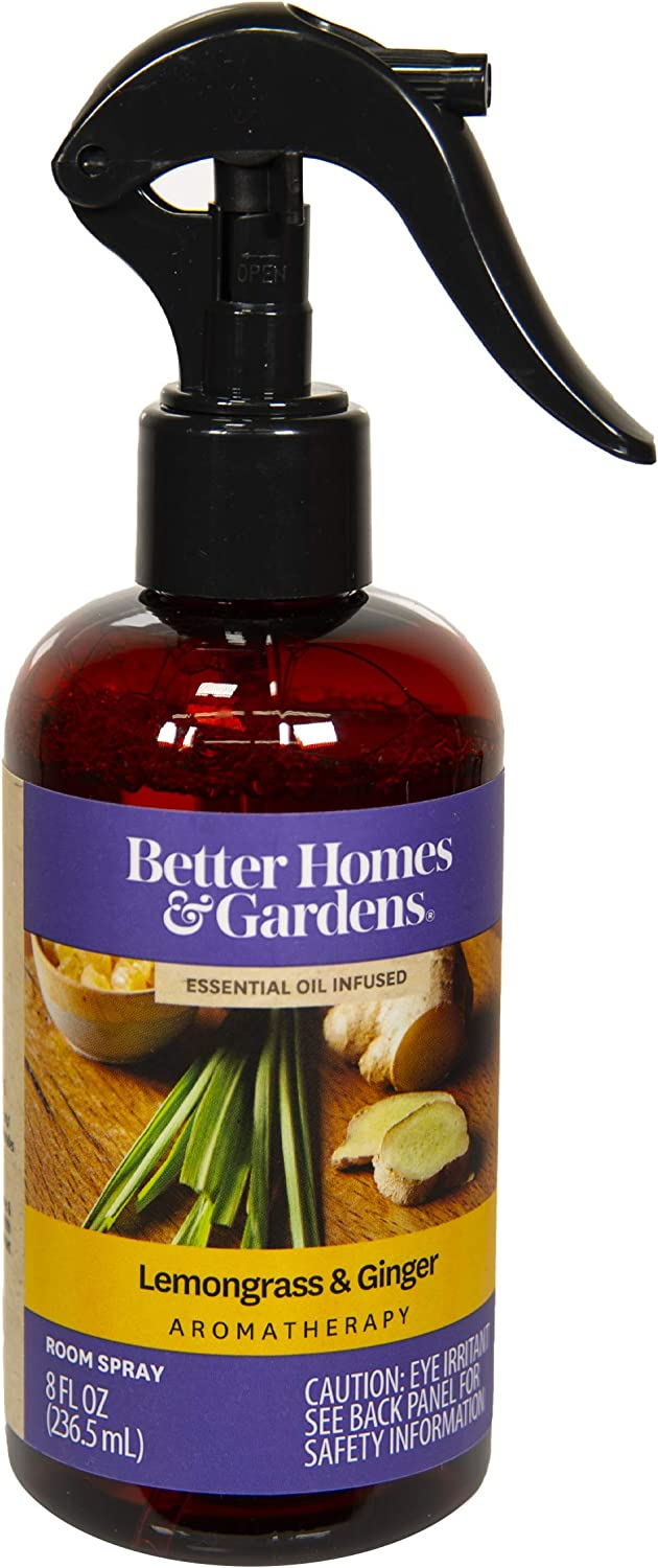 Better Homes & Gardens 8 oz Essential Oil Infused Room Spray, Lemongrass & Ginger