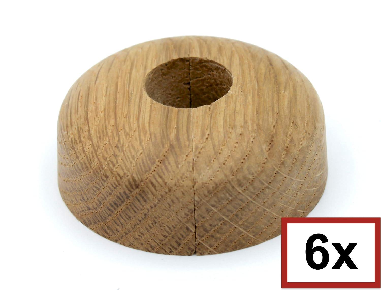 Lot de 6 rosaces simples pour tuyaux de chauffage en bois d/érable ch/êne et couvercle pour tuyaux de chauffage h/être 19 mm chauffage 15 mm bois 22 mm