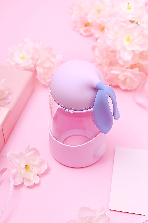 Amazon.com   Rabbit Glass Water Bottle, 300ML ABS Food-Grade ...