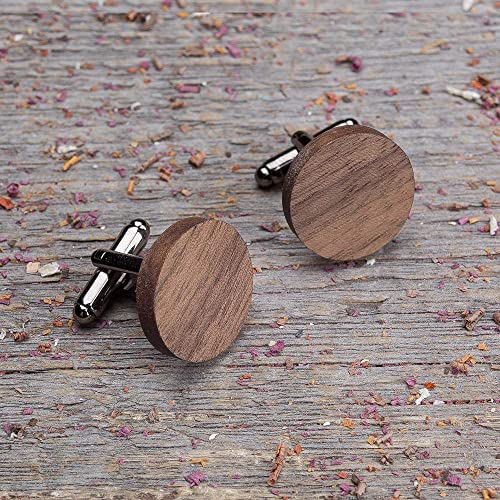 By Enjoy The Wood Wooden cufflinks with Monogram Engraving Initials Gift Custom Business Man Gift for Guy Jewelry for Men Fathers Day gift idea for Boss Wedding Wedding Idea