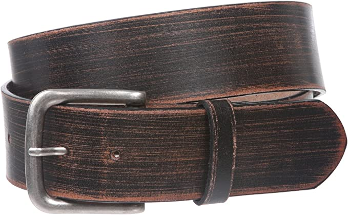 """100/% Solid Cowhide Leather Belt Snap-On Removable Buckle Unisex Womens 1.5/"""" Wide"""