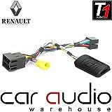 T1Audio t1-rn5Renault Clio, Renault Megane, Renault Scenic, Renault Laguna, Renault Modus, Renault Twingo Renault Trafic, adaptador de interfaz de control de audio para volante de coche con libre parche plomo