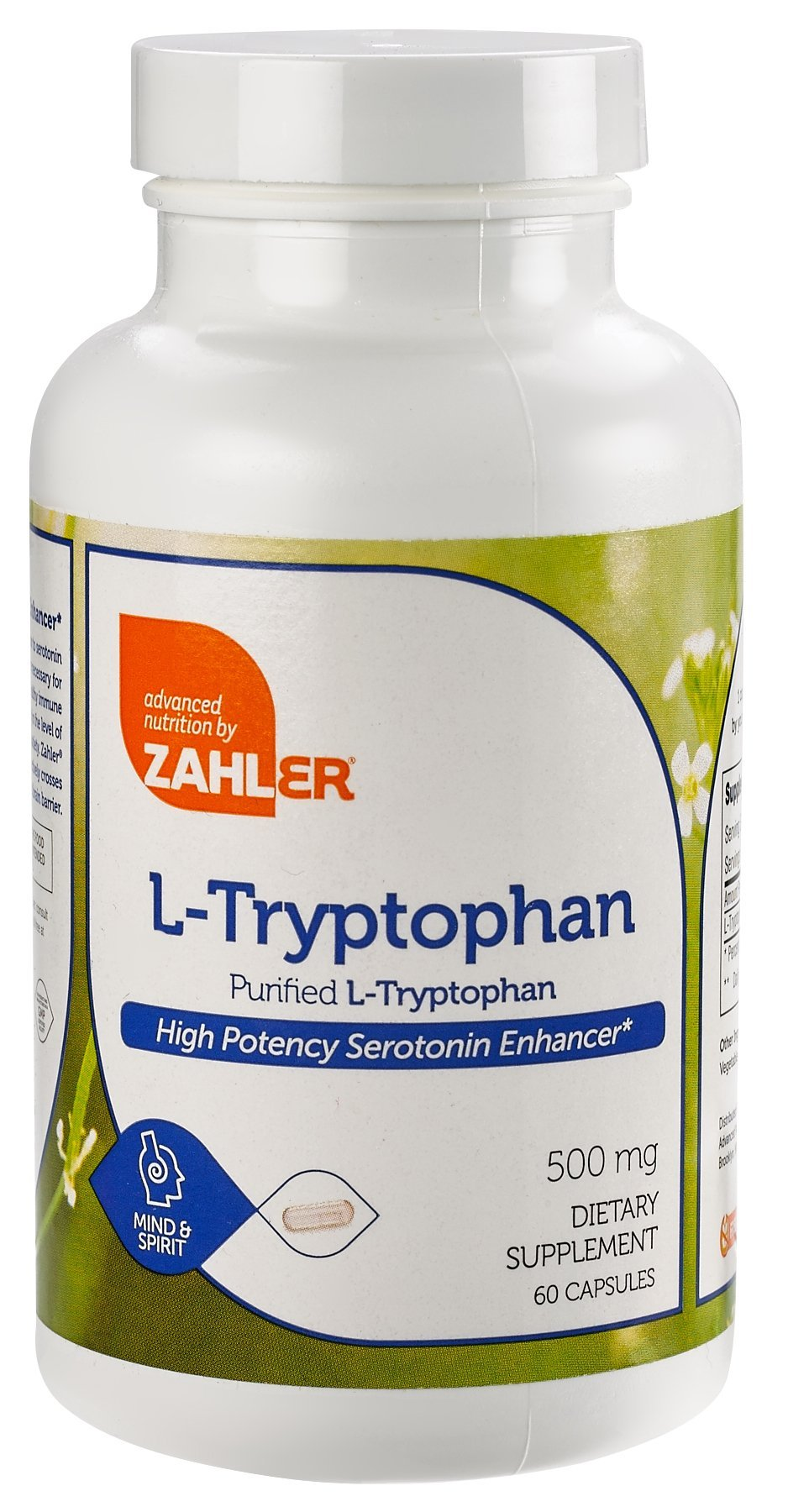 Amazon.com: Zahler L-Tryptophan 500mg Supplement, Supports Sleep Mood and Relaxation, Certified Kosher, 60 Capsules: Health & Personal Care