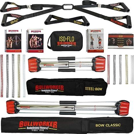 Bullworker Power Pack – Entrenamiento cruzado portátil gimnasio en casa para total fitness (arco clásico, arco de acero, ISO-FLO): Amazon.es: Deportes y aire libre