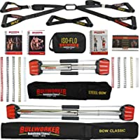 Bullworker Power Pack - Cross Training Portable Home Gym for Total Body Fitness (Bow Classic, Steel Bow, ISO-FLO)