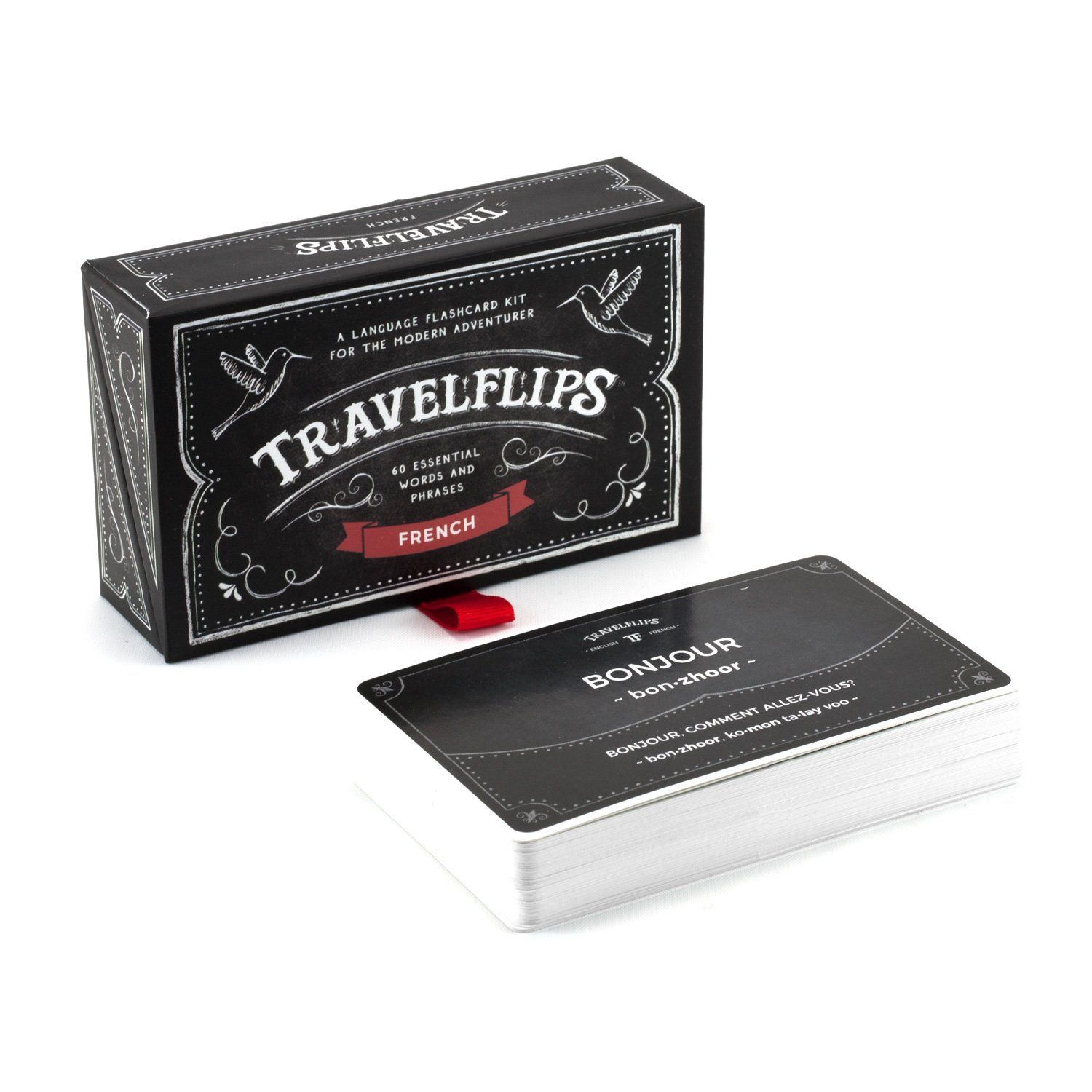 French Language Cards - Learn BasicVocabulary Words and Phrases - Easy Flash Cards for Beginners and Travelers
