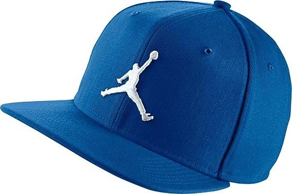 ebec3679ebf Jordan Cap - Jumpman Snapback Blue/White Size: Adjustable: Amazon.co.uk:  Clothing