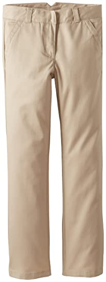 Amazoncom Dockers Girls Uniform Twill Straight Leg Pant School