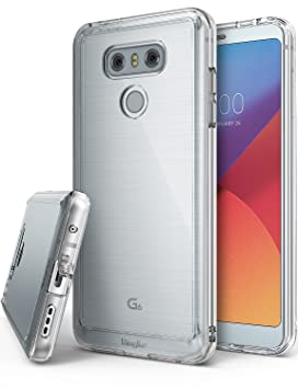 hot sales 042b1 6cf2b Ringke Fusion Compatible with LG G6 / G6 Plus Case, Crystal Clear PC Back  TPU Bumper [Drop Protection/Shock Absorption Technology] [Attached Dust ...