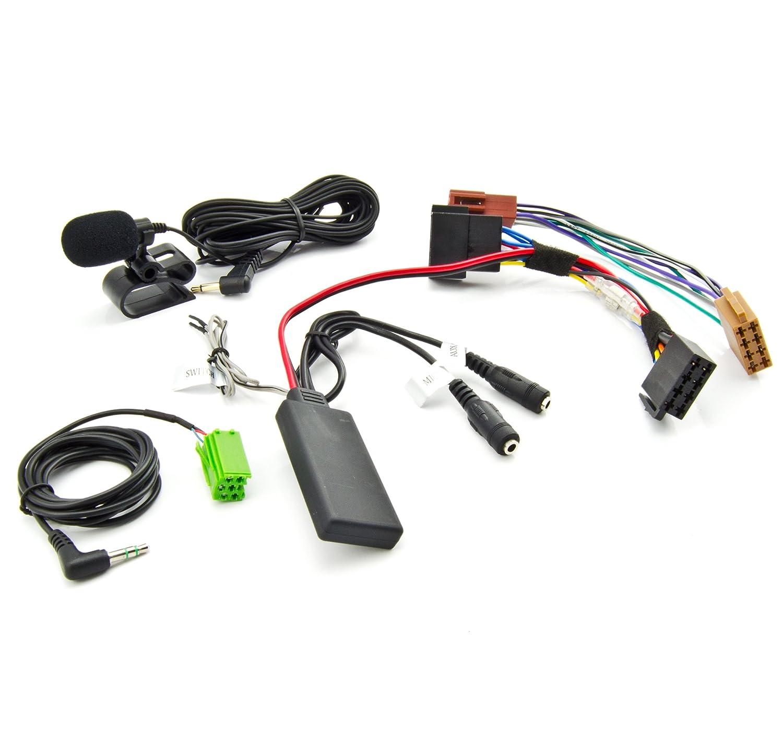 Watermark Vertriebs GmbH & Co. KG Adaptateur Bluetooth AUX pour Renault Clio Megane Laguna SPOTIFYI WM-BTMIC06