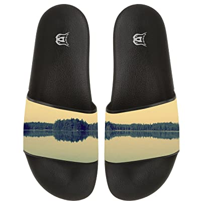COWDIY Indoor And Outdoor Forest Lake Flip Flop Slippers Beach Sandal For Beach & Pool