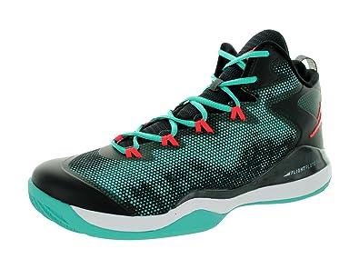 14db576e271832 Nike Jordan Mens Jordan Super.Fly 3 Retro Infrared 23 Black Basketball Shoe